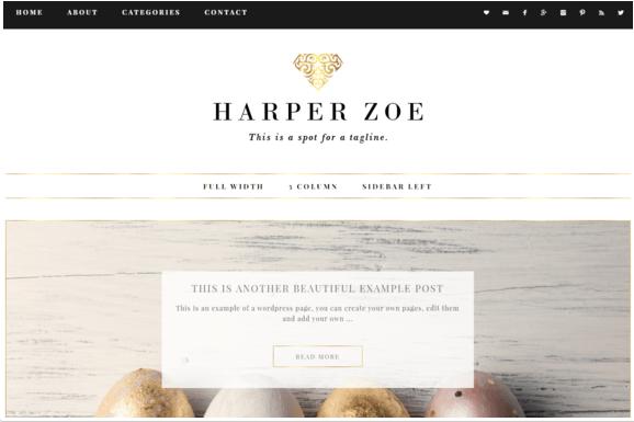 Harper zoe wordpress themes