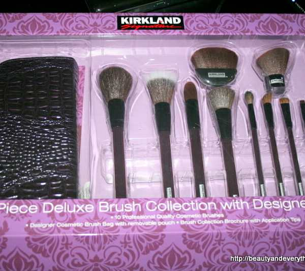 Kirkland signature 10 peice brush collection with Designer bag