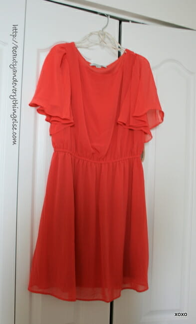 Coral dress from Forever 21