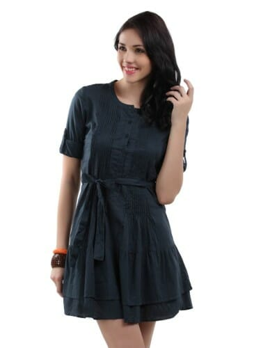 The Vanca: Navy Blue Dress from Myntra