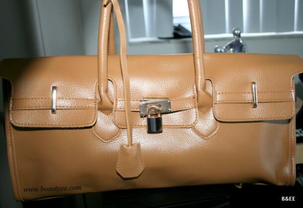 Tan patent leather bag!