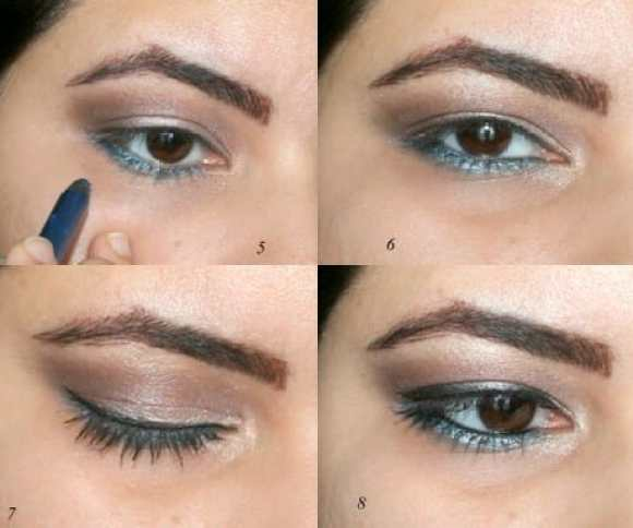 Neutral smoky eye with a pop of color