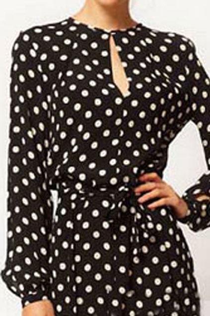 romwe black polka dot