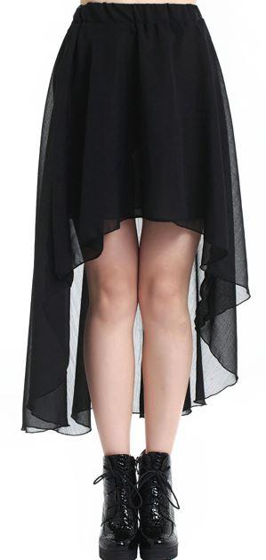 romwe black skirt