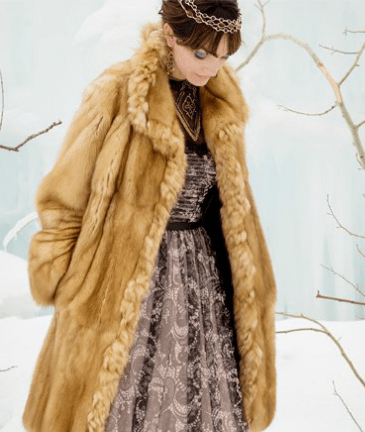Midlength fur coat by Zuki