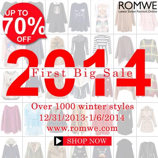 romwe 2014 sale