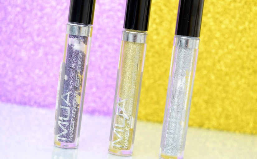 MUA Glitter Eyeliner- Sequin Queen, City of Gold, Iced
