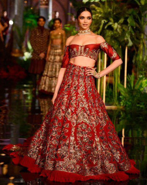 Off Shoulder Bridal Lehenga