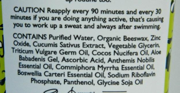 Aroma Magic Cucumber Sunscreen SPF 30 Ingredients
