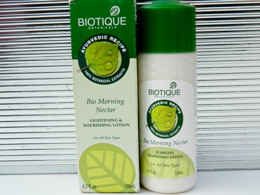 Biotique Bio Morning Nectar Flawless Lightening Lotion Review