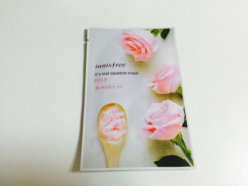 innisfree it's a real squeeze Rose Sheet Mask