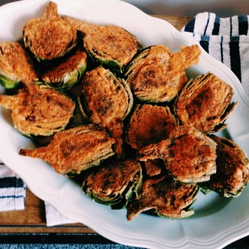 Meat Stuffed Artichoke Halves