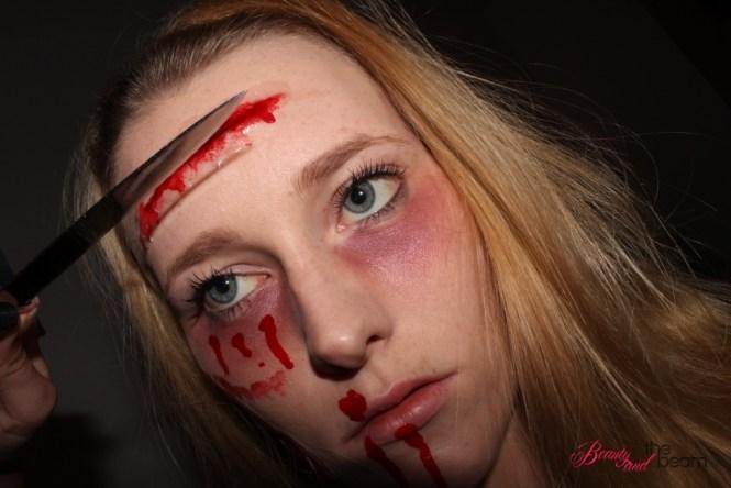 Beauty and the beam | Halloween - SFX-Look / Schnittwunden Tutorial [Blogparade] 2