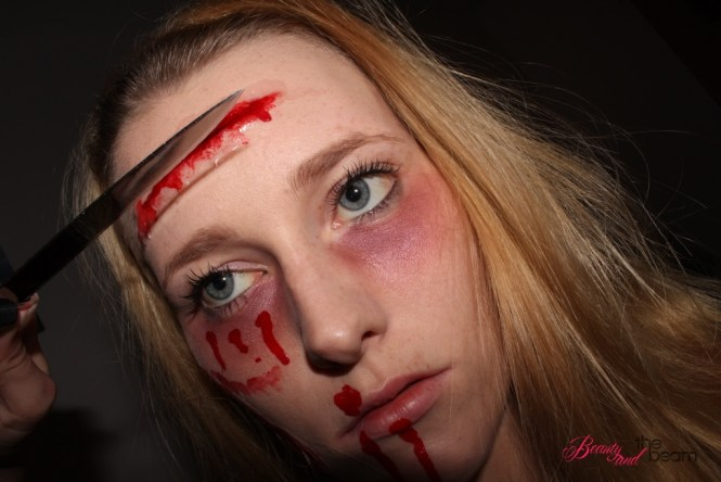 Beauty and the beam | Halloween - SFX-Look / Schnittwunden Tutorial [Blogparade] 2