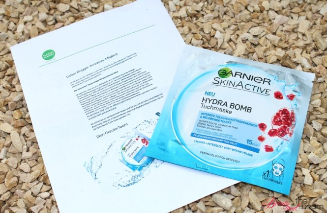 Garnier Hydra Bomb Tuchmaske [Review] | Beauty and the beam