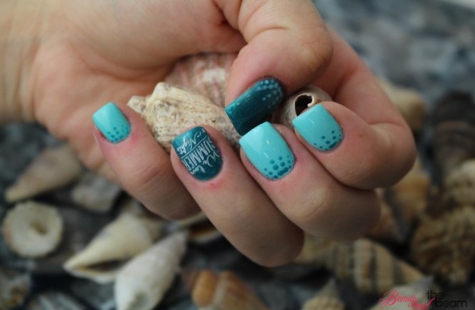 Türkiser Sommer [Nageldesign] | Beauty and the beam