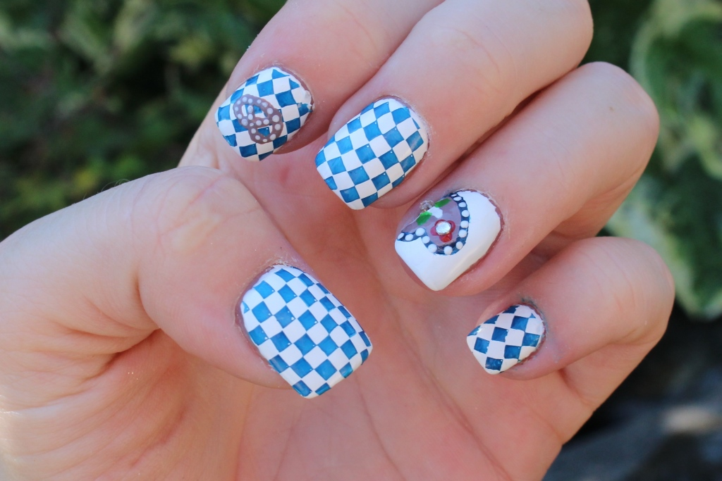Oktoberfest/Wiesn Nägel [Nageldesign]