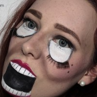 Halloween-Make Up Scary Doll [Look]