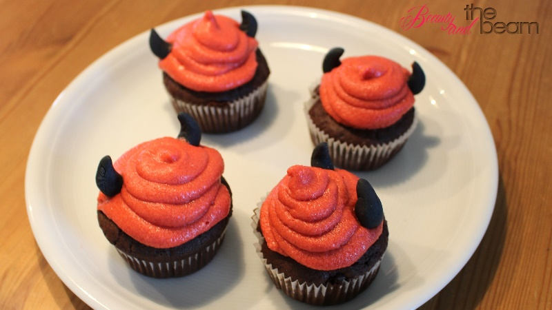 [Halloween] einfache Teufel Cupcakes