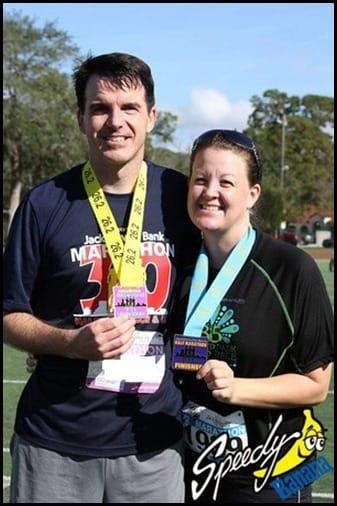 Jacksonville Marathon Finishing Medals