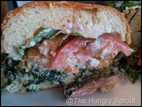 Spinach Crunch Burger That One Spot