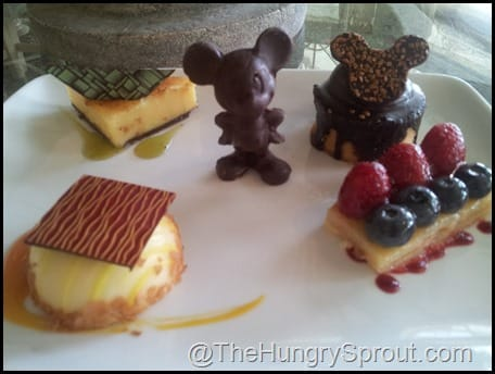 Grand Floridian Cafe dessert tray