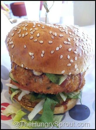 Tuna Ahi Burger at Burger 21