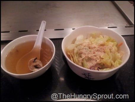 Ginza soup and salad