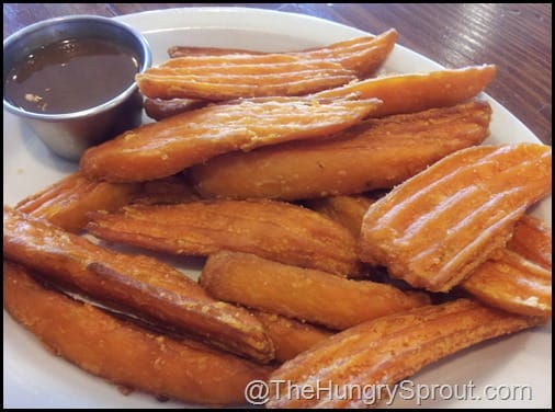 Sweet Potato Fries with Maple Mustard Sauce