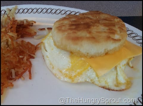 Egg biscuit at Waffle House