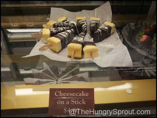 Chocolate Cafe Cheesecake on a stick