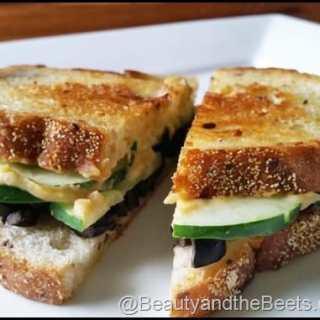 Grilled Cucumber Hummus Sandwich