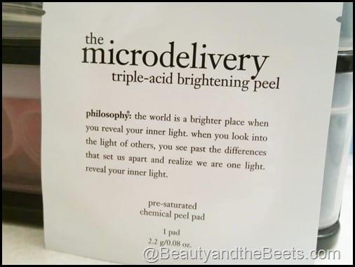 Philosphy Triple Acid Brightening Peel BeautyandtheBeets