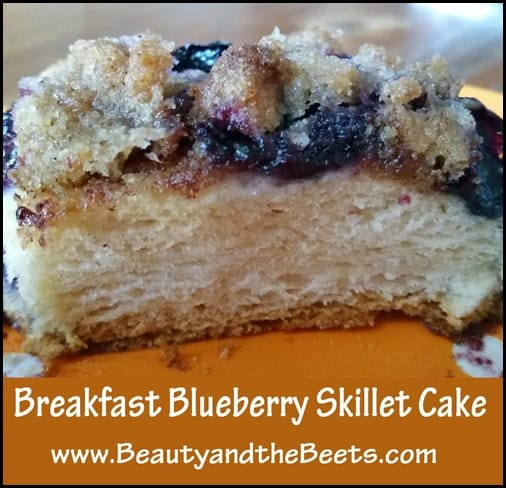 Blueberry Breakfast Skillet Cake BeautyandtheBeets