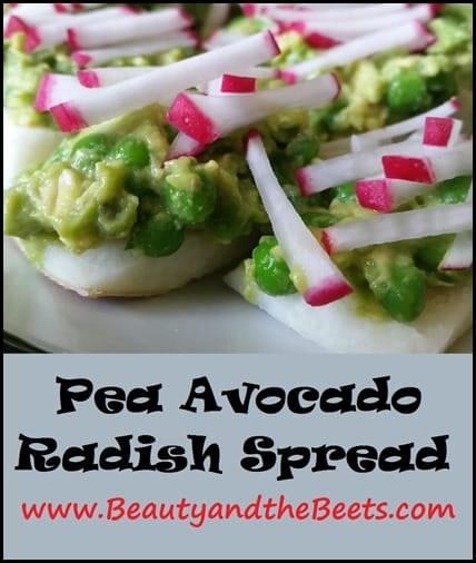 Pea Avocado Radish Spread BeautyandtheBeets