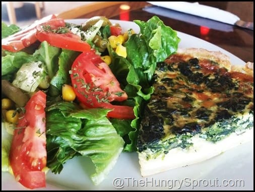 Quiche of the Day with Salad