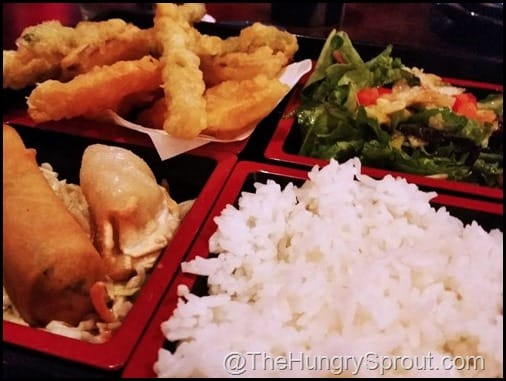 Vegetable Tempura Bento Box RA