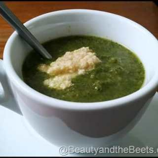 Broccoli, Spinach and Kale Soup