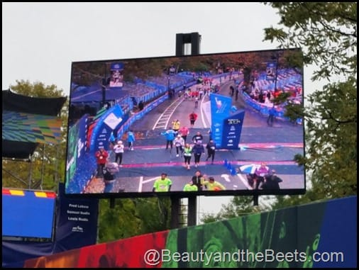 NYCM Finish Line Big Screen Beauty and the Beets
