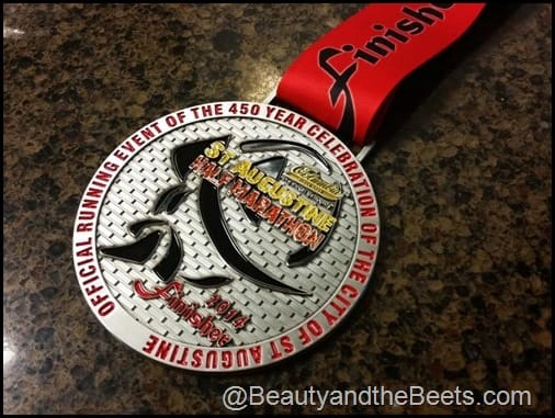 St Augustine Half Marathon Medal