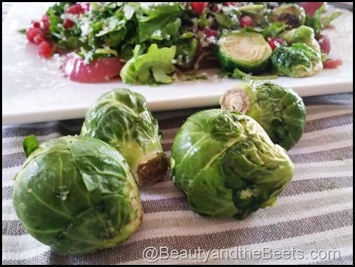 Fried Brussel Sprout Salad Beauty and the Beets
