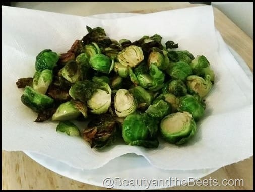 Fried Brussel Sprouts Beauty and the Beets