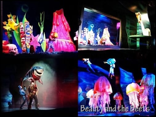 Finding Nemo stage show at Animal Kingdom Beauty and the Beets