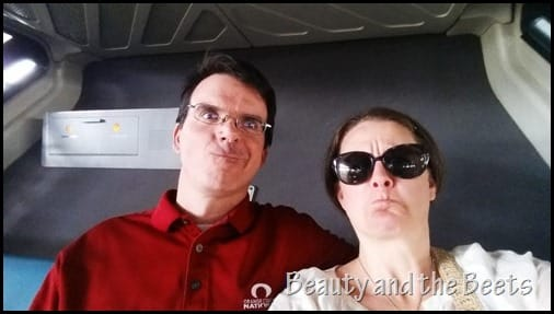 On the monorail Disney World Beauty and the Beets