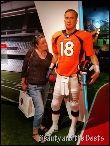 Payton Manning Madame Tussauds Beauty and the Beets