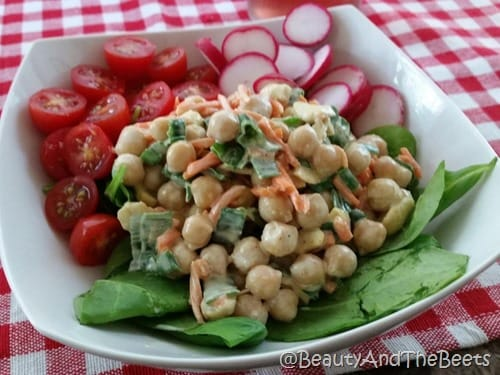 Beauty and the Beets Curried Chickpea salad