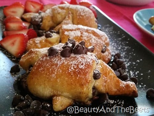 Chocolate French Toast Crescents Beauty and the Beets
