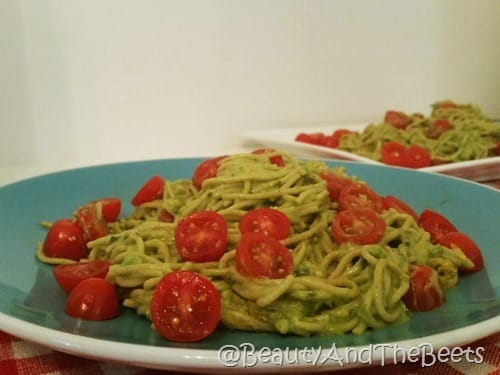 Avocado Pasta Beauty and the Beets