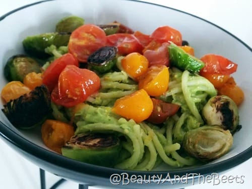 Avocado Pasta with Roasted Veggies Beauty and the Beets