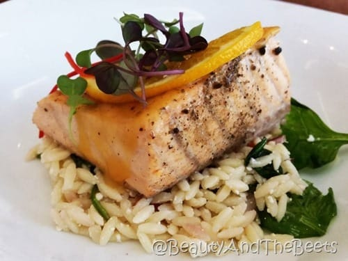 Citrus Salmon and Orzo Pasta Kasa Beauty and the Beets